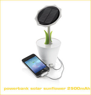 powerbank solar sunflower 2500