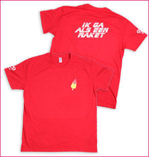 Ola Raket t-shirt rood