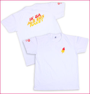 Ola Raket t-shirt wit