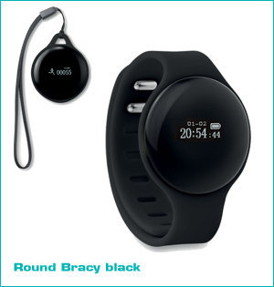 activity tracker bedrukken - voorbeeld: round bracy black