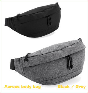 fanny pack bedrukken - voorbeeld: across body bag