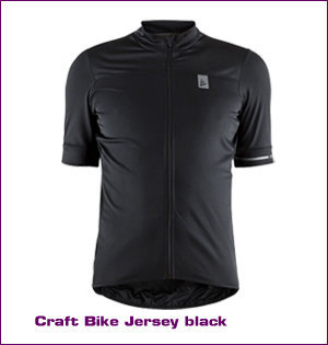 Craft wielerkleding bedrukken - voorbeeld: Craft bike jersey black