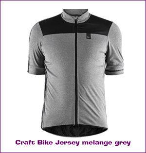 Craft wielerkleding bedrukken - voorbeeld: Craft bike jersey melange grey