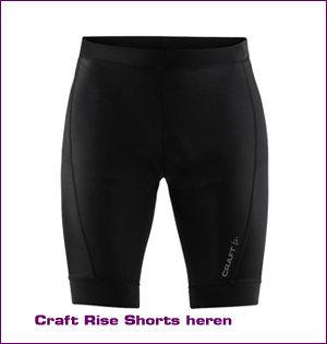 Craft bedrukken - voorbeeld: Craft rise shorts heren