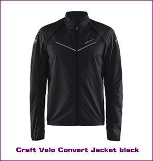 Craft kleding bedrukken - voorbeeld: Craft velo convert jacket black