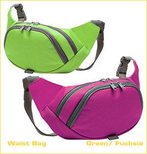 beltbag bedrukken - voorbeeld: waist bag green fuchsia