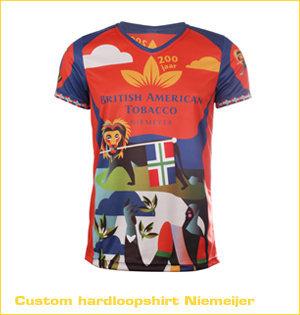 Craft hardloopshirt bedrukken - voorbeeld: hardloopshirt Niemeijer