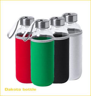 glazen waterflessen bedrukken - voorbeeld: Dakota bottle 1