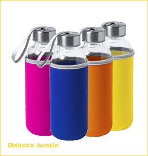 glazen waterflessen bedrukken - voorbeeld: Dakota bottle