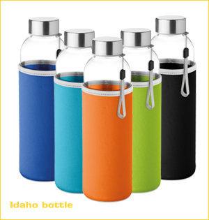 glazen waterflessen bedrukken - voorbeeld: Idaho bottle 1