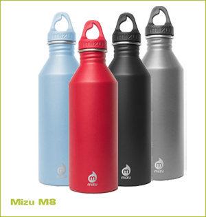 rvs waterfles bedrukken - voorbeeld: Mizu M8