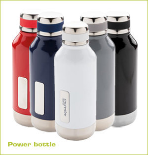 rvs waterfles bedrukken - voorbeeld: power bottle