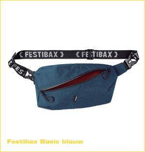 festibax heuptas bedrukken - voorbeeld: festibax basic blauw