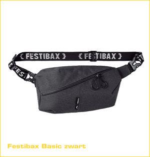 festibax heuptas bedrukken - voorbeeld: festibax basic zwart