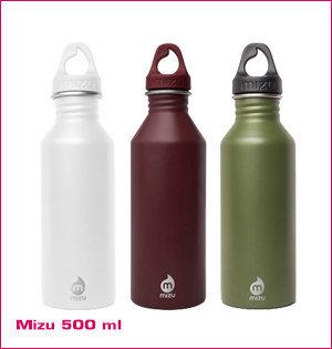 waterfles bedrukken - voorbeeld: Mizu 500ml