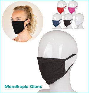 mondmaskers bedrukken - voorbeeld: mondkapje Giant