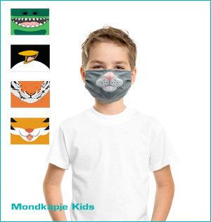 mondmaskers bedrukken - voorbeeld: mondkapje Kids